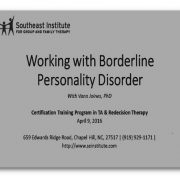 Working With Borderline Personality Disorder Audio