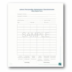 Jpaq Client Report Form